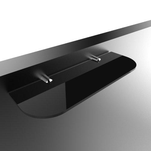 Sicherheitsregal 300 mm x 100 mm für Bad, Schlafzimmer, Büro, offen schwarz