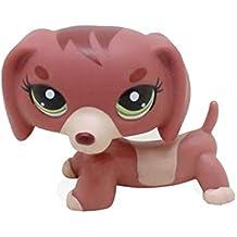 Mamum Rare Littlest Pet Shop Cream Tan Brown Pelo Corto Gato Corazón Cara Gato (Rojo