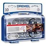 Dremel SC402 EZ SpeedClic Trennscheiben und Aufspanndorn-/Schneide-Set (mit 8 Zubehörteilen und 1 Aufsatz, zum Trennen und für Schnitte in Metall und Kunststoff)