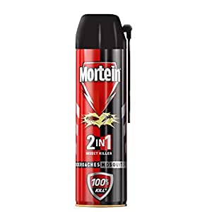 Mortein 2-in-1 Mosquito and Cockroach killer Spray with lemon fragrance - 600 ml | 100% Kill Guarantee