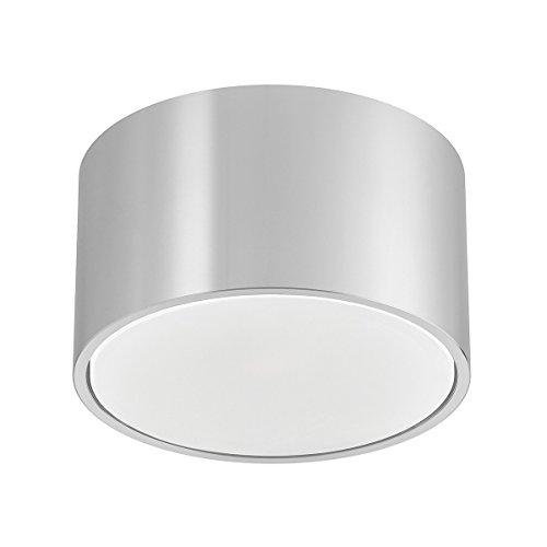 Aufbaurahmen GX53 von LEDOX | Deckenleuchte für LED & Halogen bis 50W I Aluminium Aufbaustrahler Aufbau-rahmen-lampe Deckenstrahler Decken-lampe-leuchte (silber)