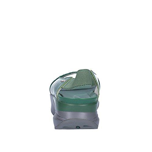 MBT Sandali Donna Pelle Camoscio Borchie Verde