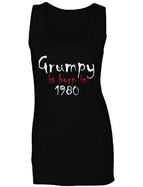 Grumpy nace en 1980 camiseta sin mangas mujer c237ft