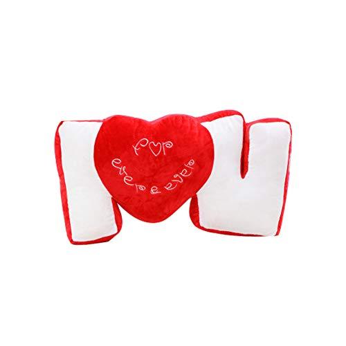 Love heart cuscino di sostegno posteriore del cuscino rosso regalo san valentino cuore peluche cuscino