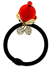 Anuradha Art Red Colour Classy Designer Hair Accessories Hair Band Stylish Rubber Band For Women/Girls