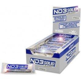 Infisport - ND3 Solid Leucina+, Barritas Energéticas, Sabor Cítrico,