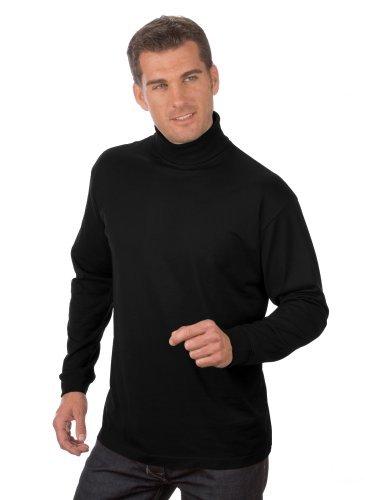 QUALITYSHIRTS Langarm Rolli, Gr. 3XL, schwarz (Golf Langarm-pullover)