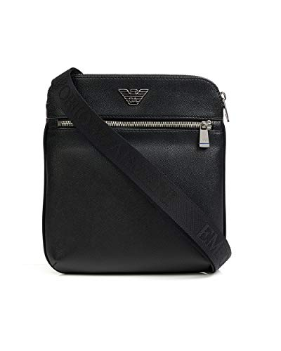 Emporio Armani Business Logo Herren Cross Body Bag Schwarz