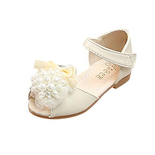 Kinder Mädchen Schuhe Säuglings Baby Sandalen Peep Toe Perlen Sandalen Prinzessin Halbschuhe Tanzschuhe Ballerinas für 12 Monate bis 7 Jahre