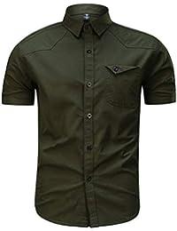 Haut Vetement Homme Pas Cher a la Mode Tee T-Shirt à Manche Courte Homme Top Sweat Chemise Blanche Vest Gilet