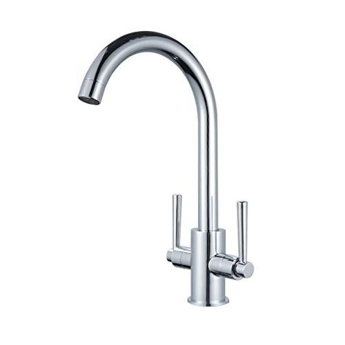 DTZW Doppelküchenarmatur, Spülmaschine, Warm- Und Kaltwassermischer, Sanitärkeramik Aluminium-krug