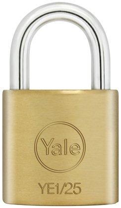 Yale Essentials di alta qualità 20mm multiuso in ottone lucchetto Yale e lucchetti offrire un corpo in ottone massiccio con un' applicazione in acciaio temprato per interni e per uso su articoli minima di sicurezza a medio.
