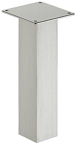 Gedotec Tresenfuß Design Barkonsole Edelstahl Konsole gerade eckig | Thekenfuß Alu Edelstahl-Optik | Höhe: 170 mm | Bar-Stütze Aluminium massiv | MADE IN GERMANY | 1 Stück - Baraufbau-Konsole Küche