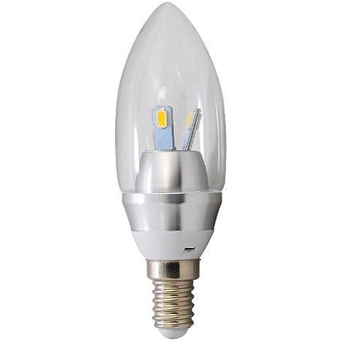 eimo - Lampadina a LED, durevole (fino a 3 anni), forma vintage a oliva, attacco a vite piccolo E14, 85~265 V, 3 W, 3100 K, 50/60 Hz, chip Samsung 5630 SMD, colore: Bianco caldo (giallo) - Durevole Indice
