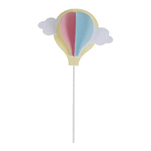 Aisoway Geburtstags-Ballon-Wolke Luftballon-Stock-Geburtstags-Kuchen-Deckel Dekoration Karten-Einsatz Flagge Kreative Dekoration Backen Halloween-Dekor-Blau