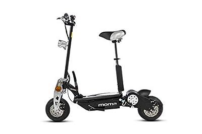 "MOMA BIKES Erwachsene PA1000W2 Faltbarer Elektricher Roller 1000w, 10"" Räder, 42km Pro Stunde, Autonomie 20km, schwarz, Unic Size"