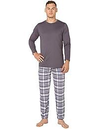 BeComfy Pijama de Hombre Set T-Shirt Manga Corta & Shorts 100% Algodón Ropa