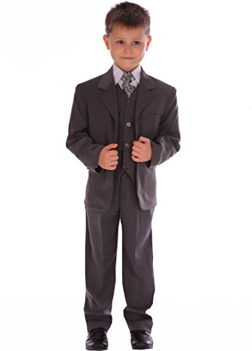 5-Piece Boys Grey Suit