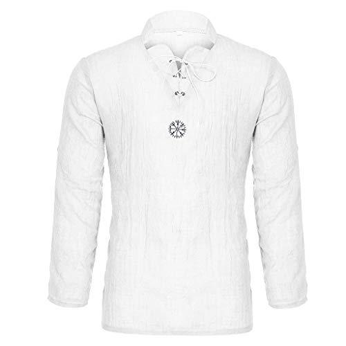 Uomo Estate personalità alla Moda Camicia Elegante Slim Fit Top in Lino Puro Cotone E Lino Scont Primavera Estate
