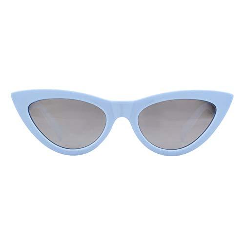ZRTYJ Sonnenbrille Spiegel cat Eye Sonnenbrille Frauen markendesigner Vintage Retro weiblich 70 s 80 s 90 s Sonnenbrille Shades