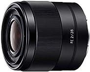Sony SEL-28F20 Weitwinkel Objektiv (Festbrennweite, 28mm, F2, Vollformat, geeignet für A7, A6000, A5100, A5000