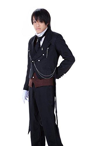De-Cos Cosplay Costume Michaelis Sebastian Outfit Set V1 (Butler Kostüm Uk)