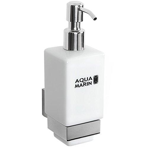 Aquamarin Eleganter Keramik-Seifenspender zur Wandmontage mit Korpus Lotionspender Bad Accessoire