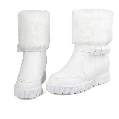 Bottines Conforts Chaud Plates Femmes avec à Fourrure Blanc pour 2017 et UH Chaussures Lhiver Talons F51dxqqvw