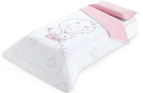 pirulos 49900004–Spannbetttuch, Baumwolle, 90x 200cm, Farbe Rosa