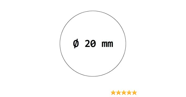 Verschlussetiketten 2000 Stück Ø 20 mm transparent