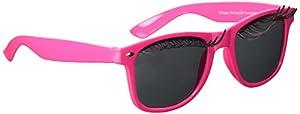 CREATIVE - Gafas con pestañas postizas, color: rosa neón