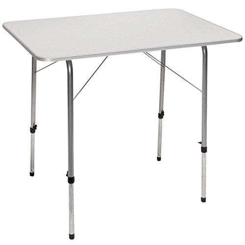 Aluminium Campingtisch. Ein Mehrzwecktisch für Indoor und Outdoor mit teleskopierbaren Tischbeinen. Hochwertiger Klapptisch platzsparend mit Schutzkante. Beistelltisch auf Festivals....