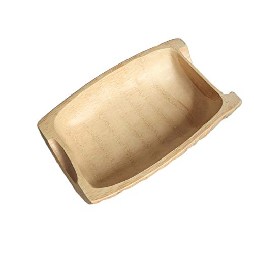 -Frucht-Korb-Käse-Brett-Imbiß-Behälter-Kuchenteller-Bambus-hölzerne kreative Boots-Form stellt die Housewarming-Geschenke DAR, die für Zuhause Hotels einfach und stilvoll sind ()