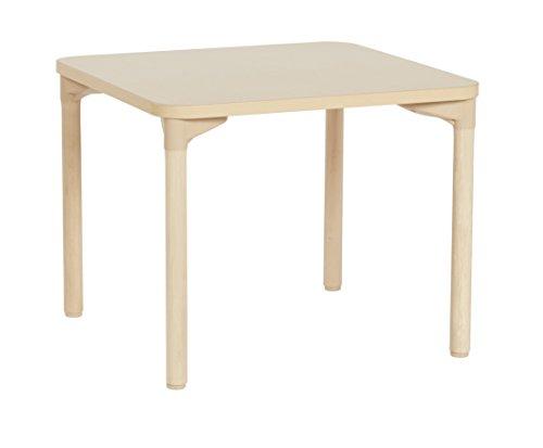 ECR4Kids quadratisch Ahorn-Aktivität Schule Tisch mit thermo-fused Edge und Holz Beine, 30