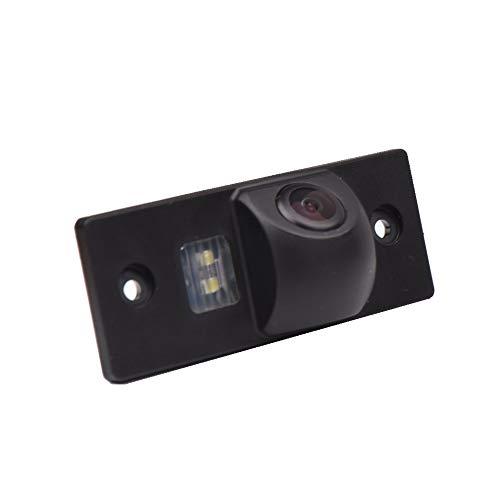 Rückfahrkamera wasserdicht Nachtsicht Auto Rückansicht Kamera Einparkhilfe, Kennzeichenleuchte (Schwarz) für Skoda Fabia VW Santana Polo (3C) Tiguan Touore Passat B6 B7 / Bora