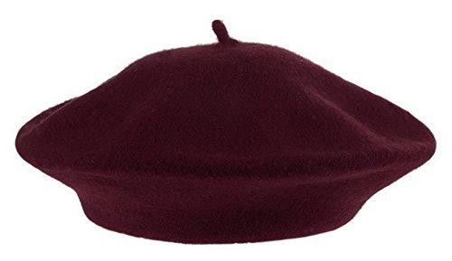 la-vogue-femme-beret-automne-hiver-bonnet-unisexe-tour-de-tete58cm-bordeaux