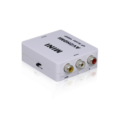 Portta WPETCH1 Mini Composite Convertitore RCA CVBS AV a HDMI per VCR DVD 720P, 1080P, Non perWindows10