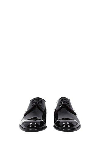 A10024A115380999 Dolce&Gabbana Derby Homme Cuir Verni Noir Noir