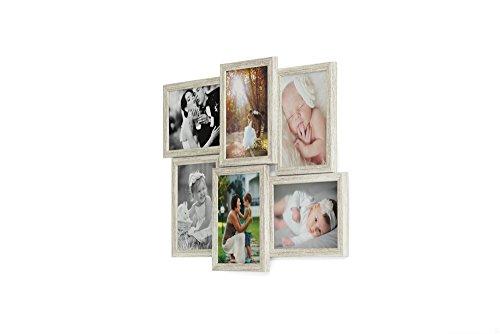 otos 13x18 cm - 3D 609 Optik - Bilderrahmen Bildergalerie Fotocollage Rahmenfarbe Altes Holz ()
