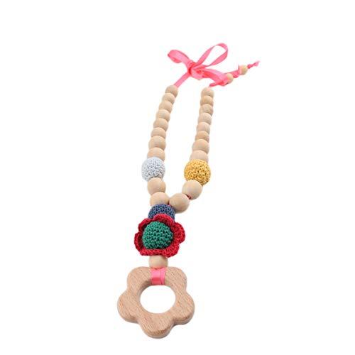 Best for baby Collier de soins infirmiers maillot de bébé Perles de crochet Allaitement maternel Crochet Fleurs Bois Accessoires Eco-friendly Fait main Bijoux pour maman