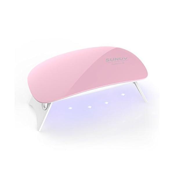 Lámpara Led Uñas, SUNUV Mini2 Secador UV Portátil para Gel Manicura Shellac Esmalte de Uñas Manicura Pedicure de Hogar