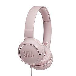 JBL Tune500 On-Ear Kopfhörer mit Kabel - Ohrhörer mit 1-Tasten-Fernbedienung, integriertem Mikrofon und Alexa-Integration - Telefonieren und Musik hören unterwegs Pink
