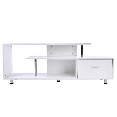 HOMCOM Mesas de TV Mueble de Comedor para Televisor Mesa Forma G...