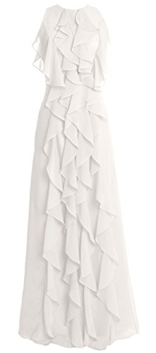 MACloth -  Vestito  - linea ad a - Senza maniche  - Donna avorio 42