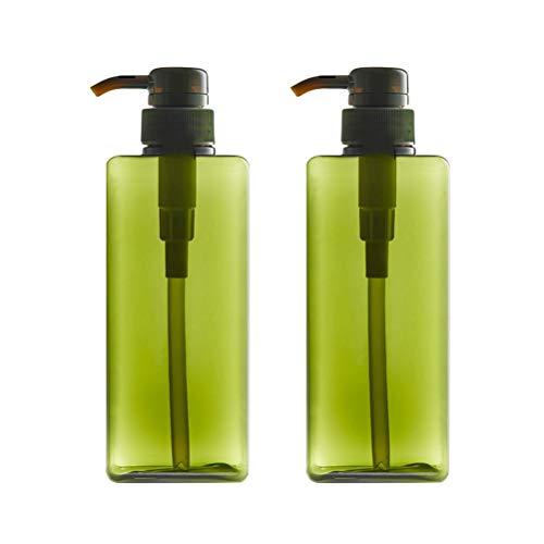 OUNONA 2280ml nachfüllbar Kunststoff Lotion Spender Leer Spray Pumpe Flaschen für Kosmetik Shampoo Liquid Seife (grün) - Duschgel-spender