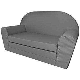 vidaXL Chaise Longue canapé Fauteuil Pliable Pliant pour Enfants Gris Canapé-lit