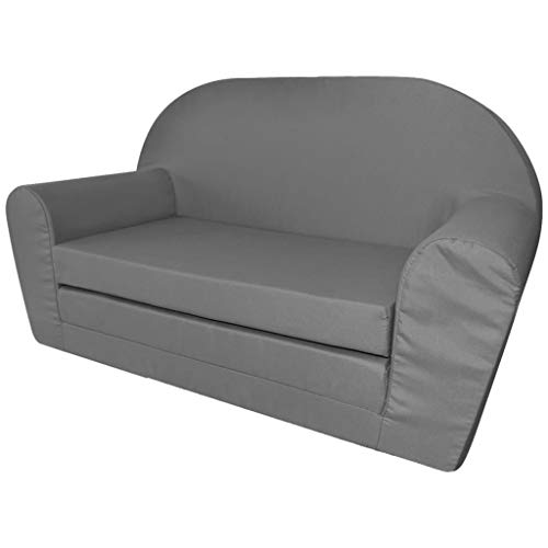 vidaXL Kindersofa mit Bettfunktion Sessel Schlafsofa Lounge Kinderzimmer Grau