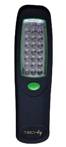 Techly Lampada Torcia 24 LED con Gancio e Magnete ITC-LED WL2