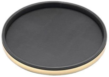 Kraftware Sophisticates Black with Brushed Gold Deluxe Tray, 14-Inch by Kraftware (Deluxe Zoll Tray 14)