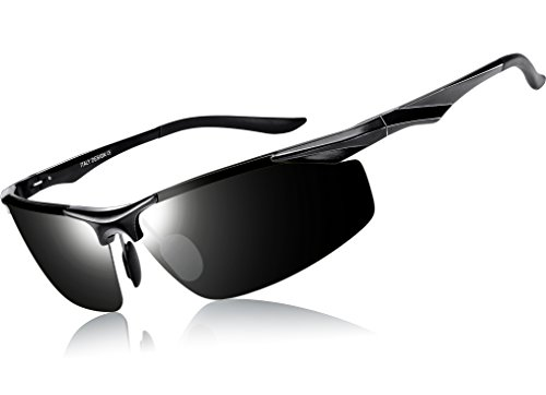 3dd16f4f63e3f1 ATTCL® Sports Polarised Sunglasses Driver Golf Fishing Al-Mg Metal frame  Ultra Light